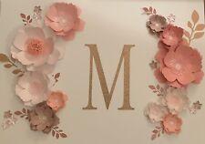 Blush/Pink Paper Flower Set Wall Decor Backdrop Nursery Bedroom Decoration