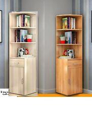 1.6m Wooden 3in1 Corner Book Shelf Bookcase Drawer Cabinet Display Storage Stand