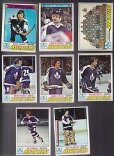 1977 Topps Hockey Team SET Lot of 8 Toronto MAPLE LEAFS NM/MT PALMATEER Lanny