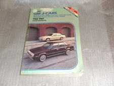 GM J-Cars 1982 1983 1984 1985 1986 1987 Shop Manual Buick Cadillac Chevrolet