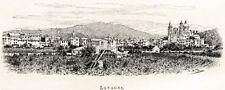 LAVAGNA: Panorama. Golfo del Tigullio. Riviera di Levante. Stampa Antica. 1889