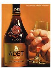 PUBLICITE  1969   ADET   fine champagne cognac