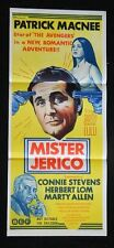 DAYBILL MOVIE POSTER - ORIGINAL - MISTER JERICO - PATRICK MACNEE - CONNIE STEVEN
