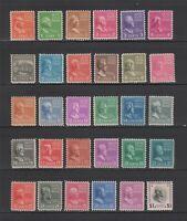 US,803-832,MNH,F-VF,PREXIE,1938 PRESIDENTIAL SERIES MINT NH,OG