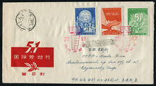 China PRC 1959' C61 International Labour Day FDC to Russia