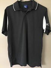 Mizuno Short Sleeve Polo Shirt Men's Small Black