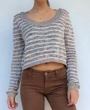 Sunny Girl ladies striped long sleeve knit jumper top, size medium