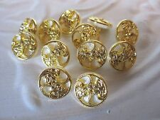 "5/8"" Round PEARLIZED - GOLD  Buttons (12 pc)"