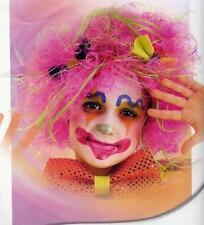 Peluca payaso rosa mechones circo infantil niño