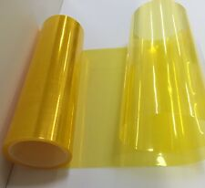 "12"" x 12"" JDM Yellow Headlight Taillight Fog Light PVC Tint Overlay Vinyl Film"