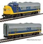 Walthers 910-9939 HO CSX EMD F7 A-B Diesel Locomotive Standard DC #116, #119