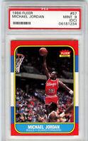 1986 Fleer Basketball Michael Jordan ROOKIE RC #57 PSA 9(oc) MINT - Awesome Card