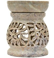 "Artist Haat 4"" Soapstone Made Aroma Diffuser Oil Burner Home & Office Décor Gift"