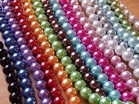 6MM  pk 100 GLASS FAUX PEARL ROUND BEADS GLOSSY Jewellery Making-Crafts