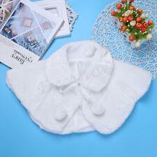 Girl Flower Shrug Faux Fur Soft Warm Bolero Shawl Wrap Coat Jacket Cloak Wedding