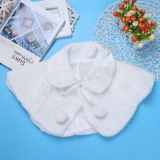 Flower Girls Faux Fur Wedding Bridal Jacket Bolero Shawl Wrap Coat Cloak Shrug
