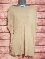 ESPRIT Size 8-10 Top CAMEL BROWN Batwing Tunic VGC Women's Stretch Holiday