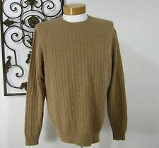 Allen Solly 100% Cashmere Long Sleeved Cabled Sweater Size L Large Camel Brown