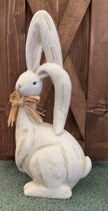 """Exquisite-Adorable Bunny Easter Spring Garden Decor 15""""T Cement Rabbit Long Ears"""