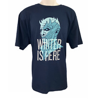 Game Of Thrones WINTER IS HERE STARK Night King Navy T-Shirt Large