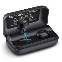 WGGE T1-Pro Bluetooth 5.0+EDR Wireless Earbuds Sweat-Proof TWS Stereo Headphones