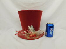 Seasons Of Cannon Falls Large Felt Hat Centerpiece Christmas Merry Holidays
