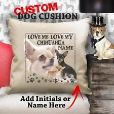 Custom short hair chihuahua dog doggy vintage cushion customr canvas