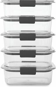 Rubbermaid Brilliance Food Storage Container, BPA free Plastic, Medium, 3.2 Cup,