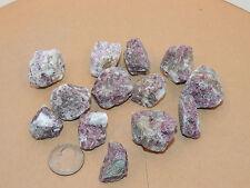 Pink Tourmaline with White Quartz Rough stones 1/2 pound 13 pieces (11108)