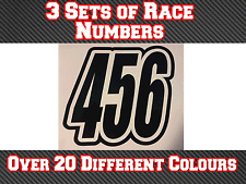 3x Race Numbers Motocross Custom Vinyl Stickers Decals MX  Dirt Bike N18