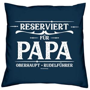 Vatertagsgeschenk Reserviert für Papa Kissen Urkunde Vatertag Geschenk navyblau