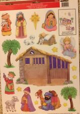 Static Window Clings Build A Nativity Christmas Holy Family New Vinyl