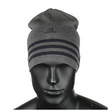 adidas Mens Knit Logo 3-stripes Performanceb Beanie Woolly Warm Winter Hat Cap