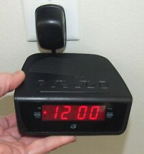 Gpx Dual Alarm Clock Am/Fm Radio with Red Led Display, Volume Control, Black