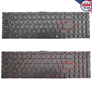 US Keyboard For MSI GS60 GT72 GT73VR GS63VR GL62 GE62 GT62 WS60 MS-16JB Backlit