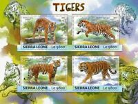 Sierra Leone - 2017 Tigers on Stamps - 4 Stamp Sheet - SRL17303a
