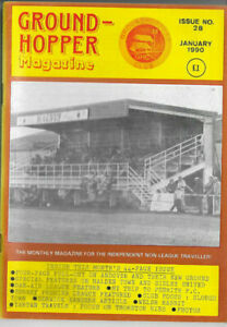 GROUND-HOPPER (Non League Football Magazine) Issue no.28 dated January 1990