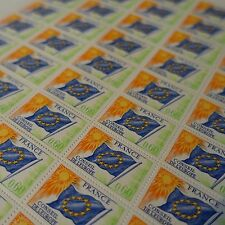 FEUILLE SHEET TIMBRE DE SERVICE EUROPE N°46 x50 1975 NEUF ** LUXE MNH COTE 75€