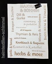 STUCO Geschirrtuch Küchentuch HERBS Kräuter Gemüse Küchenhandtuch Küche Zubehör