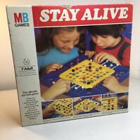 Vintage 1975 MB Games Stay Alive Board Game 100% Complete With 20 Shiny Marbles