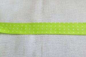 Cotton Bias binding- Spot on lime green  25mm, price per metre