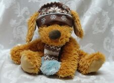 "2009 Hugfun Int'l Inc. 14"" St. Jude Floppy Soft Plush Brown Holiday Dog Ear Flap"