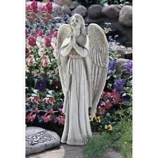 Large Elegant Amazing Grace Praying Angel Sculpture Inspirational Garden Statue