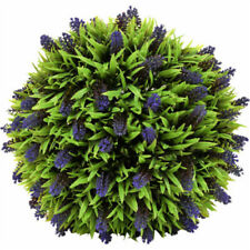Hanging Topiary Ball Artificial Purple Lavender Flower Plant Home Door Decor