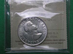 1955 Canada 50 cents half dollar silver MS62 FREE SHIPPING
