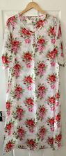 CATH KIDSTON WHITE ROSE PRINT LONG DRESS NIGHTWEAR PYJAMAS S M SMALL MEDIUM