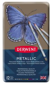 Derwent Metallic Watercolour Pencils - Set of 12
