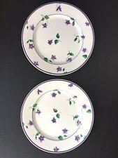 "2 Waverly Sweet Violet Salad Plates 8.5"" China Desert Bread"