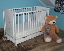 TEDDY BEARS BABY COT WITH DRAWER + EXTRA BARRIER + HIGH QUALITY 4 MATTRESSES