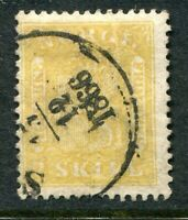 NORWAY 1863. THE SCARCE ARMS 2sk YELLOW, SG 12. VERY FINE USED EXAMPLE: